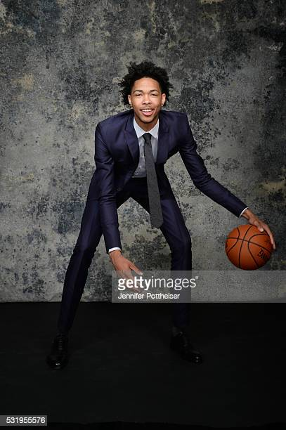 Draft Prospect Brandon Ingram poses for some portraits prior to the 2016 NBA Draft Lottery on May 17 2016 at the NBA Headquarters in New York City...