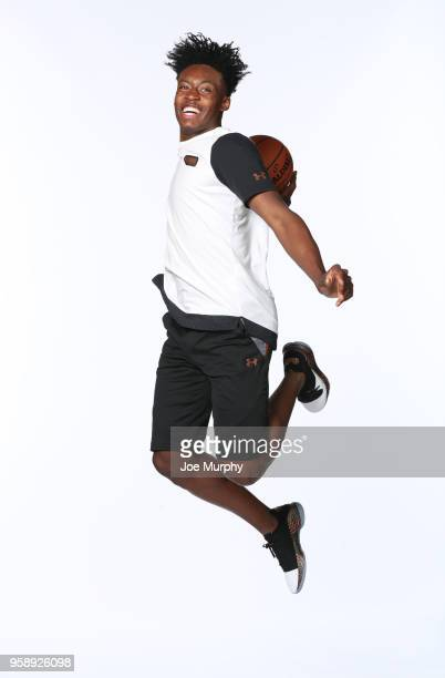 Draft Prospect Collin Sexton poses for a portrait during the 2018 NBA Combine circuit on May 15 2018 at the Intercontinental Hotel Magnificent Mile...