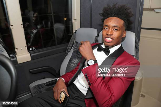 NBA draft prospect Collin Sexton rides the bus to attend the 2018 NBA Draft on June 21 2018 at Barclays Center in Brooklyn New York NOTE TO USER User...