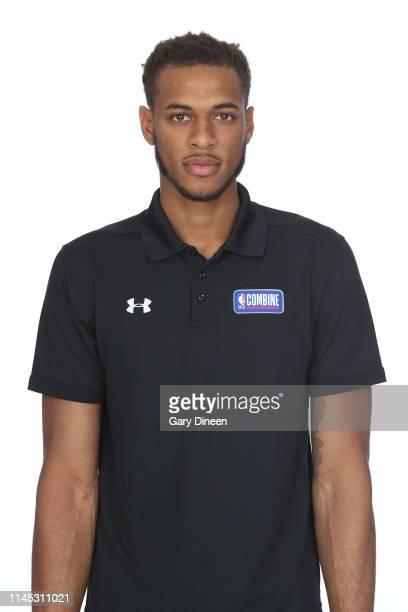 Draft Prospect Daniel Gafford poses for a head shot at the Body Image station for the Medical Evaluation portion of the 2019 NBA Combine powered by...