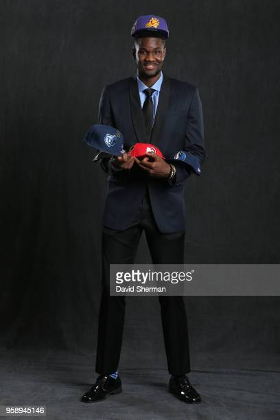 Draft Prospect DeAndre Ayton poses for a portrait before the NBA Draft Lottery on May 15 2018 at The Palmer House Hilton in Chicago Illinois NOTE TO...