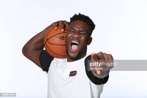 Draft Prospect Deandre Ayton poses for a portrait during the 2018 NBA Combine circuit on May 15 2018 at the Intercontinental Hotel Magnificent Mile...