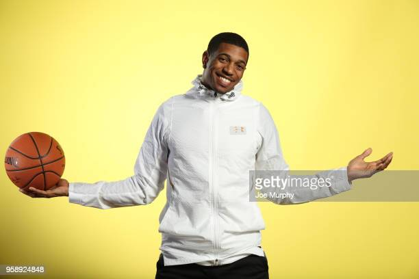 Draft Prospect De'Anthony Melton poses for a portrait during the 2018 NBA Combine circuit on May 15 2018 at the Intercontinental Hotel Magnificent...