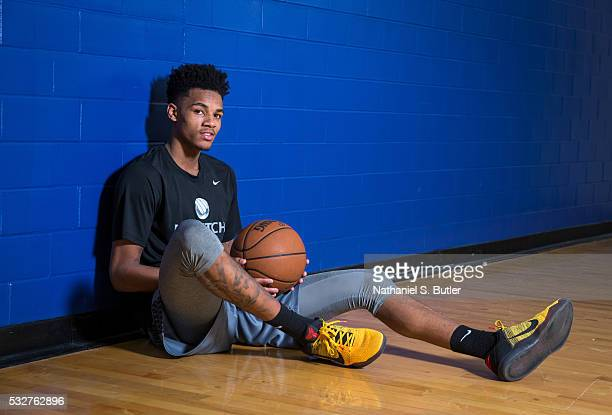 Draft Prospect Dejounte Murray poses for a photo during a workout at the Veale Center at Case Western Reserve University on May 19 2016 in Cleveland...