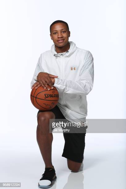 Draft Prospect Devon Hall poses for a portrait during the 2018 NBA Combine circuit on May 15 2018 at the Intercontinental Hotel Magnificent Mile in...