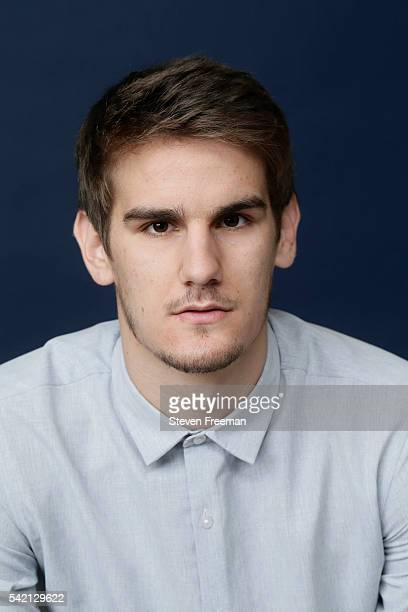 Draft Prospect Dragan Bender poses for portraits during media availability and circuit as part of the 2016 NBA Draft on June 22 2016 at the Grand...