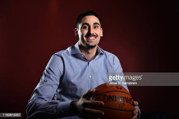Draft Prospect Goga Bitadze poses for portraits during media availability and circuit as part of the 2019 NBA Draft on June 19 2019 at the Grand...