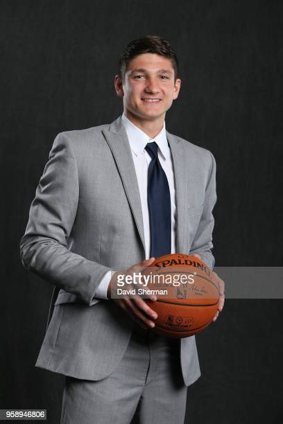 Draft Prospect Grayson Allen poses for a portrait before the NBA Draft Lottery on May 15 2018 at The Palmer House Hilton in Chicago Illinois NOTE TO...