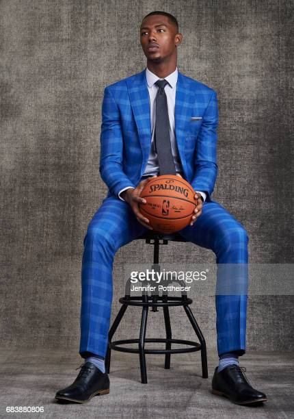 Draft Prospect Harry Giles III poses for portraits prior to the 2017 NBA Draft Lottery at the NBA Headquarters in New York New York NOTE TO USER User...