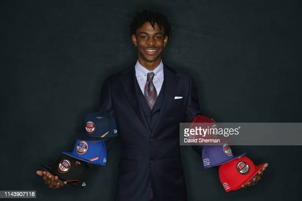Draft Prospect Ja Morant poses for a portrait at the 2019 NBA Draft Lottery on May 14 2019 at the Chicago Hilton in Chicago Illinois NOTE TO USER...