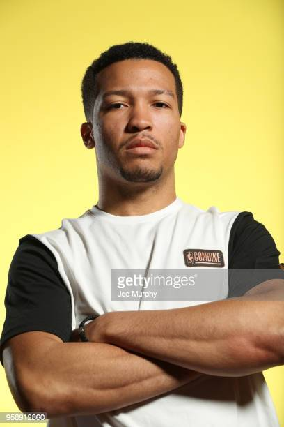 Draft Prospect Jalen Brunson poses for a portrait during the 2018 NBA Combine circuit on May 15 2018 at the Intercontinental Hotel Magnificent Mile...