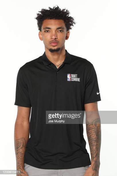 Draft Prospect, James Bouknight poses for a headshot during the 2021 NBA Draft Combine on June 23, 2021 at the Wintrust Arena in Chicago, Illinois....