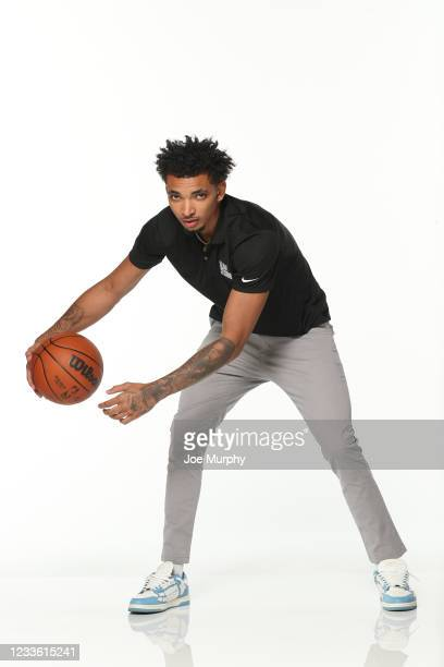Draft Prospect, James Bouknight poses for a portrait during the 2021 NBA Draft Combine on June 23, 2021 at the Wintrust Arena in Chicago, Illinois....