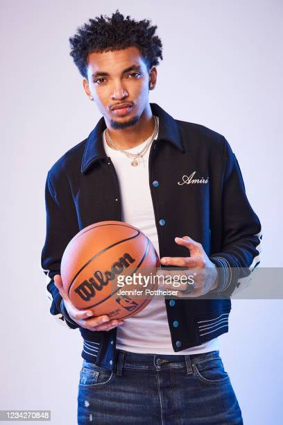Draft Prospect, James Bouknight poses for portraits during media availability and circuit as part of the 2021 NBA Draft on July 28, 2019 at the...