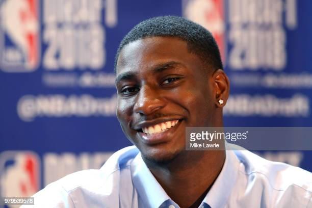 Draft Prospect Jaren Jackson Jr speaks to the media before the 2018 NBA Draft at the Grand Hyatt New York Grand Central Terminal on June 20 2018 in...