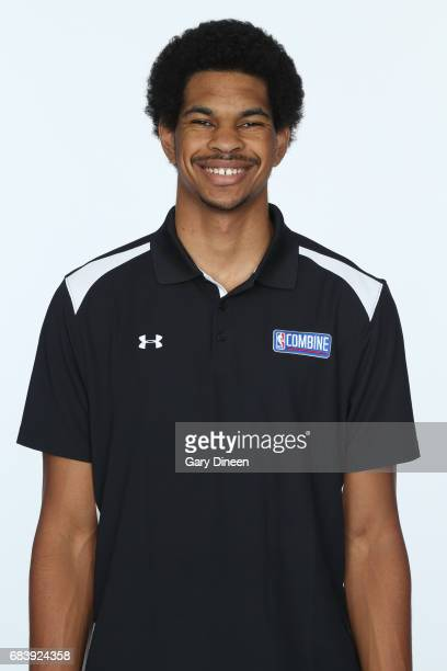 Draft Prospect Jarrett Allen poses for a head shot during the NBA Draft Combine Medical Testing on May 13 2017 at Northwestern Memorial Hospital in...