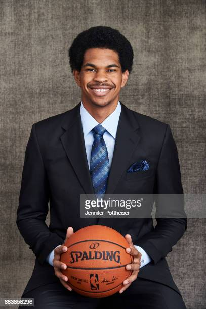 Draft prospect Jarrett Allen poses for portraits prior to the 2017 NBA Draft Lottery at the NBA Headquarters in New York New York NOTE TO USER User...