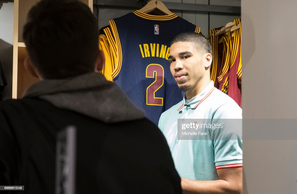 newest 6c6b4 0e5a3 Draft prospect, Jayson Tatum visits the NBA Store in New ...