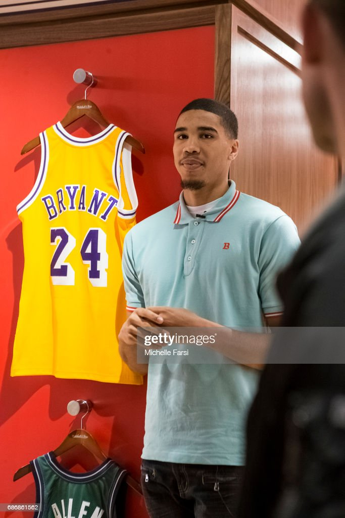 newest 73cbe 84c4a Draft prospect, Jayson Tatum visits the NBA Store in New ...