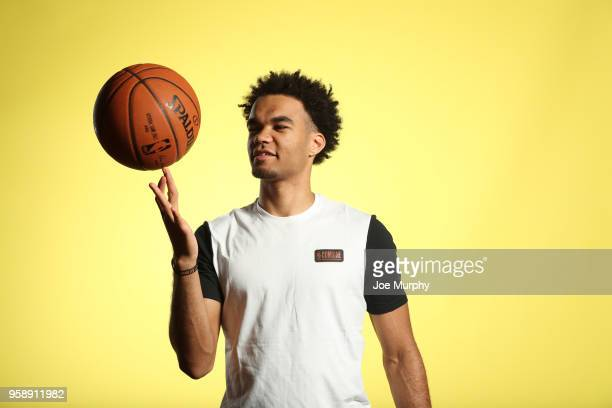 Draft Prospect Jerome Robinson poses for a portrait during the 2018 NBA Combine circuit on May 15 2018 at the Intercontinental Hotel Magnificent Mile...