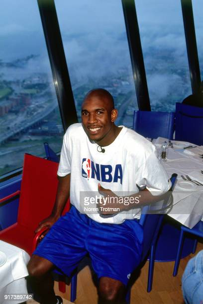 Draft Prospect Joe Smith visits the CN Tower on June 27 1995 in Toronto Ontario Canada NOTE TO USER User expressly acknowledges and agrees that by...