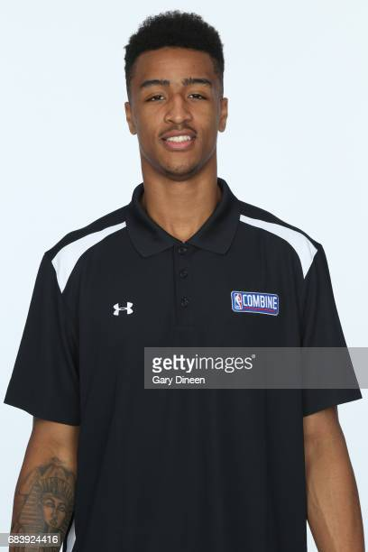 Draft Prospect John Collins poses for a head shot during the NBA Draft Combine Medical Testing on May 13 2017 at Northwestern Memorial Hospital in...