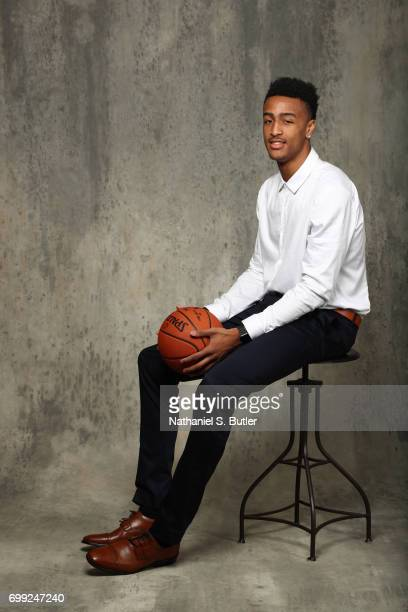Draft Prospect John Collins poses for portraits during media availability and circuit as part of the 2017 NBA Draft on June 21 2017 at the Grand...
