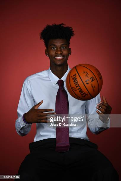 Draft Prospect Jonathan Isaac poses for portraits during media availability and circuit as part of the 2017 NBA Draft on June 21 2017 at the Grand...