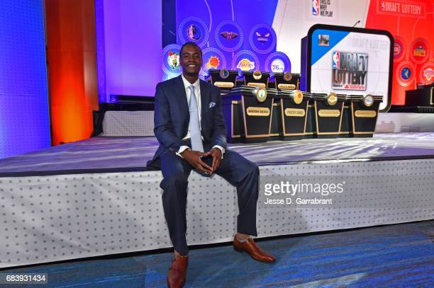 Draft Prospect Josh Jackson poses for a photo before the 2017 NBA Draft Lottery at the New York Hilton in New York New York NOTE TO USER User...