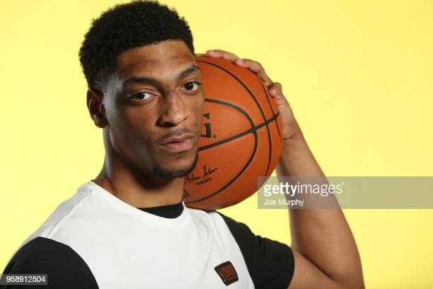 Draft Prospect Justin Jackson poses for a portrait during the 2018 NBA Combine circuit on May 15 2018 at the Intercontinental Hotel Magnificent Mile...
