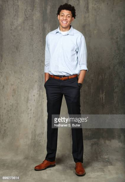 Draft Prospect Justin Jackson poses for portraits during media availability and circuit as part of the 2017 NBA Draft on June 21 2017 at the Grand...