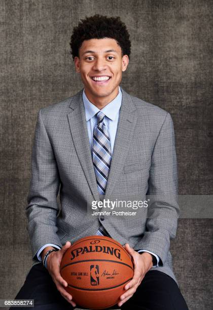 Draft prospect Justin Jackson poses for portraits prior to the 2017 NBA Draft Lottery at the NBA Headquarters in New York New York NOTE TO USER User...