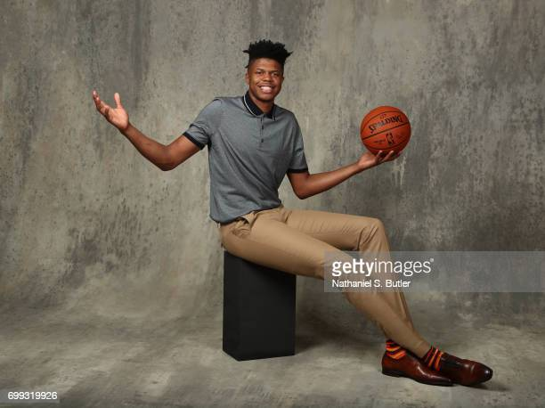 Draft Prospect Justin Patton poses for portraits during media availability and circuit as part of the 2017 NBA Draft on June 21 2017 at the Grand...