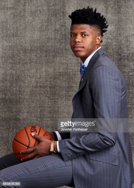 Draft prospect Justin Patton poses for portraits prior to the 2017 NBA Draft Lottery at the NBA Headquarters in New York New York NOTE TO USER User...
