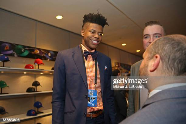 Draft Prospect Justin Patton smiles during the 2017 NBA Draft Lottery at the New York Hilton in New York New York NOTE TO USER User expressly...
