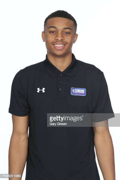 Draft Prospect Keldon Johnson poses for a head shot at the Body Image station for the Medical Evaluation portion of the 2019 NBA Combine powered by...