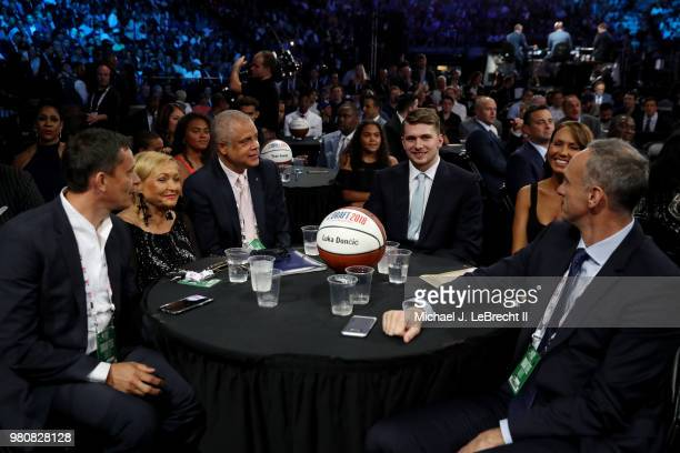 Draft prospect Luka Doncic is seen on June 21 2018 at Barclays Center during the 2018 NBA Draft in Brooklyn New York NOTE TO USER User expressly...