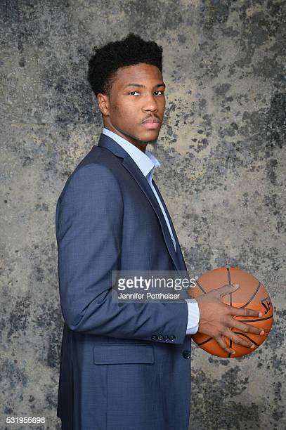 Draft Prospect Malik Beasley poses for some portraits prior to the 2016 NBA Draft Lottery on May 17 2016 at the NBA Headquarters in New York City...