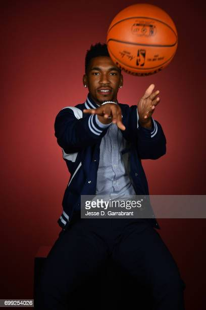 Draft Prospect Malik Monk poses for portraits during media availability and circuit as part of the 2017 NBA Draft on June 21 2017 at the Grand Hyatt...