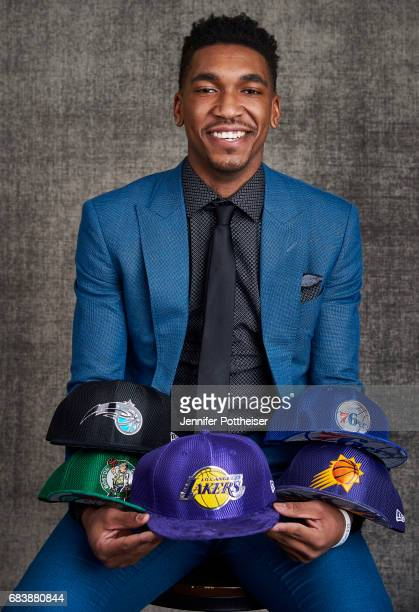 Draft Prospect Malik Monk poses for portraits prior to the 2017 NBA Draft Lottery at the NBA Headquarters in New York New York NOTE TO USER User...