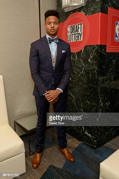 Draft Prospect Markelle Fultz poses for a photo during the 2017 NBA Draft Lottery at the New York Hilton in New York New York NOTE TO USER User...