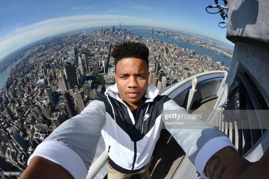 Markelle Fultz at Empire State Building