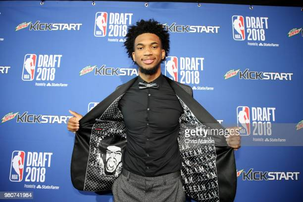 Draft prospect Marvin Bagley III poses for a photo during the Mtn Dew Kickstart Green Carpet on June 21 2018 at Barclays Center during the 2018 NBA...