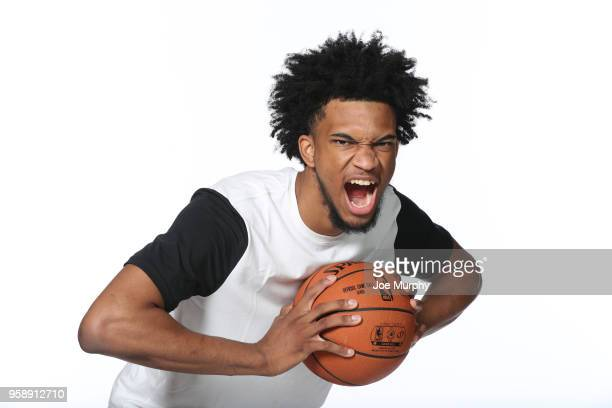Draft Prospect Marvin Bagley III poses for a portrait during the 2018 NBA Combine circuit on May 15 2018 at the Intercontinental Hotel Magnificent...