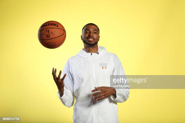 Draft Prospect Mikal Bridges poses for a portrait during the 2018 NBA Combine circuit on May 15 2018 at the Intercontinental Hotel Magnificent Mile...
