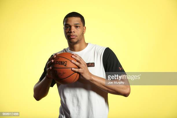 Draft Prospect Miles Bridges poses for a portrait during the 2018 NBA Combine circuit on May 15 2018 at the Intercontinental Hotel Magnificent Mile...