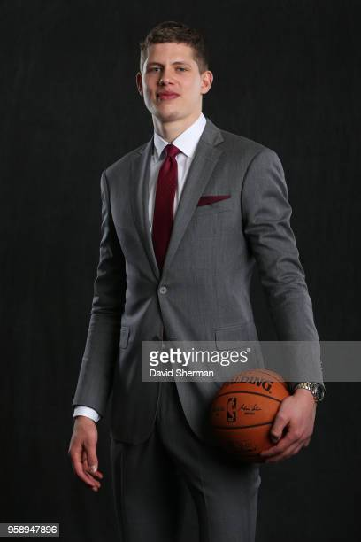 Draft Prospect Moritz Wagner poses for a portrait before the NBA Draft Lottery on May 15 2018 at The Palmer House Hilton in Chicago Illinois NOTE TO...