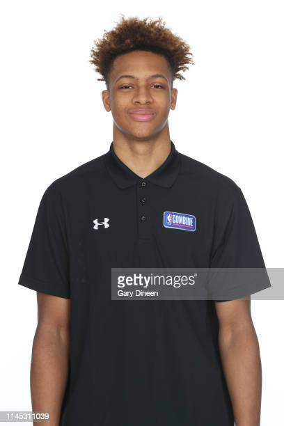 Draft Prospect Romeo Langford poses for a head shot at the Body Image station for the Medical Evaluation portion of the 2019 NBA Combine powered by...