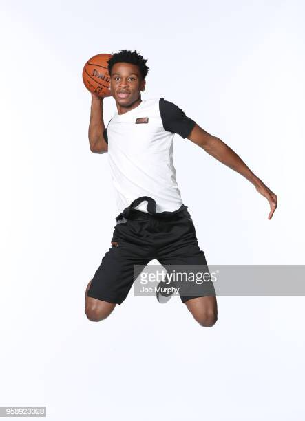 Draft Prospect Shai GilgeousAlexander poses for a portrait during the 2018 NBA Combine circuit on May 15 2018 at the Intercontinental Hotel...