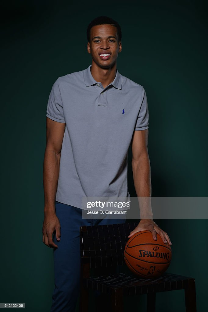NBA Draft Prospect, Skal Labissiere poses for portraits during media availability and circuit as part of the 2016 NBA Draft on June 22, 2016 at the Grand Hyatt New York in New York City.